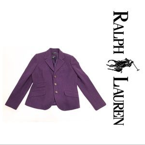 🐎🧶🐎 RALPH LAUREN Wool Blend BLAZER- Size 6P